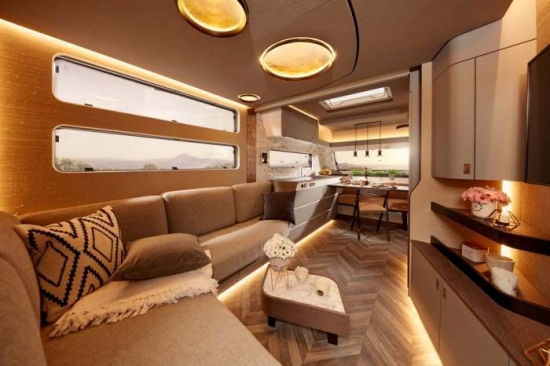 A new motor home from Mercedes-Benz was presented in Dusseldorf