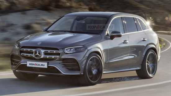 There was information about the new Mercedes-Benz GLC with photos